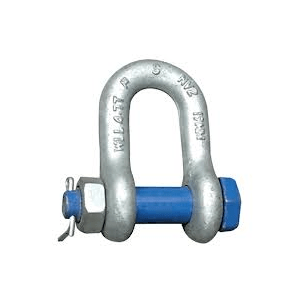Blue Pin Standard Dee Safety Shackles