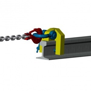 Camlok rail pulling clamps